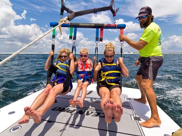 parasail with friends
